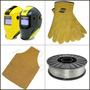 Careta +guantes +delantal+ Alambre P/soldar S/gas 0,90x4,5kg