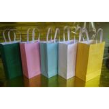 10 Unidades Sacolas De Papel Coloridas Não Personalizadas