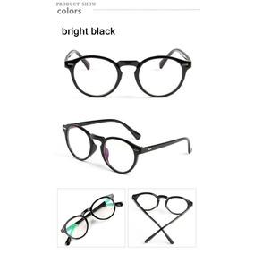 Armação Óculos D Grau Acetato Redondo Masculino Feminino Bo