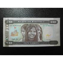 Eritrea Billete Diez Nakfa Fecha 1997 Nuevo Unc