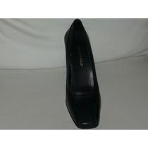Zapatos Bellino Pelle 100% Cuero 38 1/2 Taco 9 De Vestir