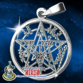 Pentagrama En Plata 2.5 X 4 Cm - Contra Envidias Y Maleficio