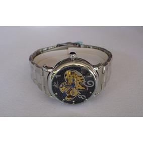 Preciosisimo Reloj Skeleton Automatico Importado Para Dama