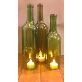 Pantalla Para Lampara / Botella De Vino Sin Fondo Reciclada