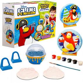 Club Penguin Arte E Pintura Em Gesso Shaker Maker Disney Dtc