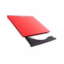 Gravador - Leitor Dvd Externa Samsung Ultra Fina - Vermelha
