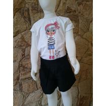Conjunto Infantil Festa Com Short,bolero E Camiseta