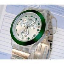 Relógio Feminino Condor New Age Kz25049g Strass Verde