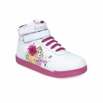 Zapatillas Botitas Addnice Disney Princesas Con Luz Y Velcro