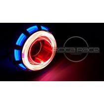 Farol Moto Projetor Retrofit Angel Devil Eyes Led Cree
