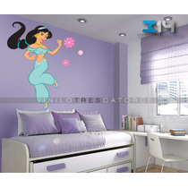 Vinil Decorativo Princesas-i 20 Calcomanía De Pared Jazmín