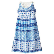 Vestido Niña Maxi Con Macramé Talla 8, 14 Y 16