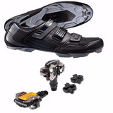 Sapatilha Shimano Mtb Sh Xc31 + Pedal M520 C/ Tacos Consulte