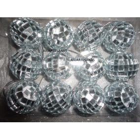 Bolas De Boliche Espejadas Para Armar Souvenirs Nro3 X50u