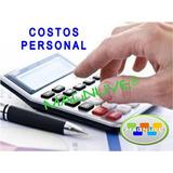 Sistema Excel Proyección Calculo Costos Personal Trabajador
