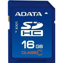 Tarjeta Sd Hc Memoria 16gb Clas 4 Adata Camaras Digitales