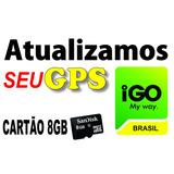 Atualização Gps Igo Cartão 8g Foston Aquarius Bak Multimidia