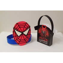 Combo Bolsita De Papel Y Vincha Spiderman - Personalizados