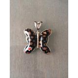 Dije Mariposa Acero Quirurgico Con Murano