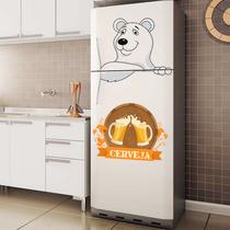 Adesivo Decorativo Geladeira - Urso Polar Cerveja 1 P