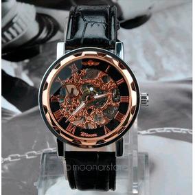 Elegante* Reloj Winner Skeleton De Cuerda Mas Envio Gratis!