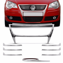 Super Aplique Cromado Grade Polo Hatch E Sedan 2007 A 2011
