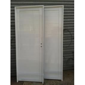 Puerta Aluminio Blanco Reforzada Linea Herrero 80x200 Ciega