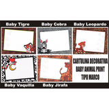 25 Cartulina Decorativa Baby Animal Print Manualidades Marco