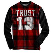 Blusa Casaco Moletom Xadrez Trust 13 Brooklyn Ny Illuminati
