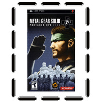 Metal Gear Solid Portable Ops Psp Nuevo Sellado Cdv
