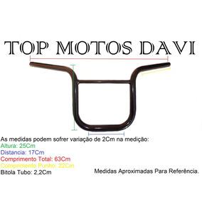 Guidão Moto Motoboy Titan 150 Preto S/ Fixa Peso