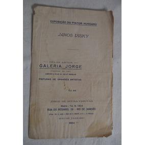 Catálogo Arte Janos Visky Galeria Jorge 1924 Pintura