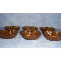 Compoteras Forma Manzana Color Caramelo 6 Unidades