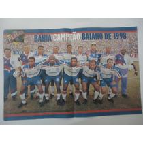 Bahia Campeão Baiano 1998 - Poster Avulso Placar 41x26