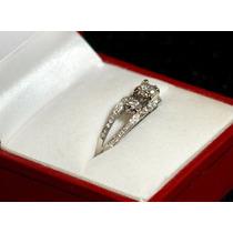 Anillo Compromiso 0.65 Kilates Diamante Oro 14k Certificado