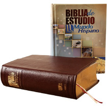 Biblia De Estudio Mundo Hispano. Piel. +acceso Online