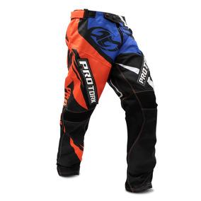 Calça Motocross Pro Tork Insane 4 Laranja Azul Trilha Enduro