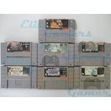 Paquete 7 Juegos Snes Mario Rpg, Megaman X, Castlevania 4