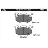 Balatas Ate Trasera Peugeot 206-cc 1.6 L00-08 306 99-02 0013