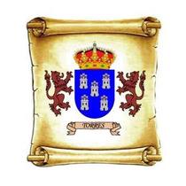 Escudo Del Apellido Torres - Heraldica - Lamina 45 X 30 Cm