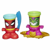 Play-doh Canheads Superheroes Spiderman Iron Man Cap America
