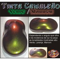 Tinta Camaleão Verde Laranja Marrom - Chameleon Paint Green