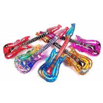 Globos Metalizados De Guitarra X10u