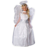 Hermoso Traje De Rosebud Angel: 8.10 Tamaño De La Muchacha
