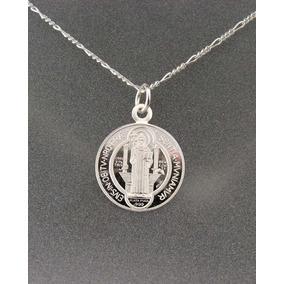 Medalla De San Benito Chica En Plata Fina 0.999 Vv4