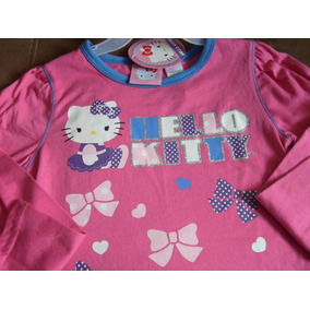 Bellisima Blusa M Larga Niña Hello Kitty T-6x Original