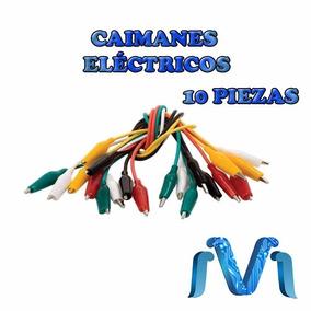 Caimanes Electricos Juego De Cables Caiman 10 Piezas