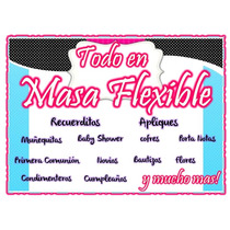 Apliques En Masa Flexible (caritas) 12 Unidades