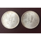 Monedas Dos Onzatroy De Plata 1980 Con Estuche