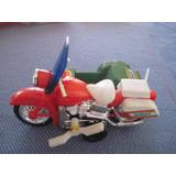 Moto Con Sidecar A Cuerda- De Coleccion- Oferta